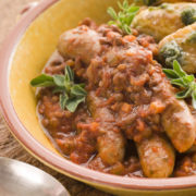 sausage stew from Romancing the Stove